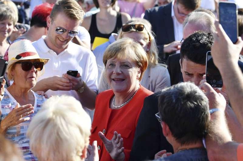2017德國大選,梅克爾的選戰沒有遇到明顯障礙。(美聯社)