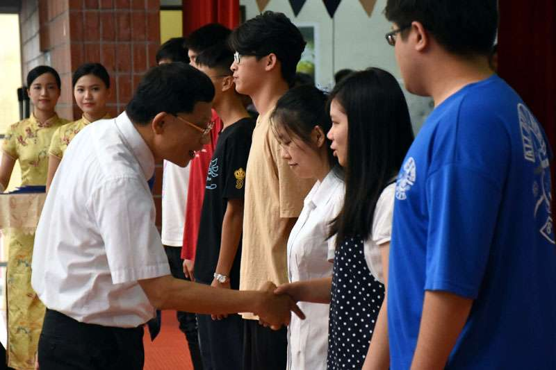 國立臺灣海洋大學校長張清風勉勵新生,快樂學習。(圖/國立臺灣海洋大學提供)