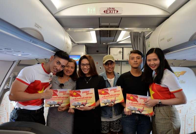 旅客獲得免費越捷越南國內線來回機票(圖/越捷航空)