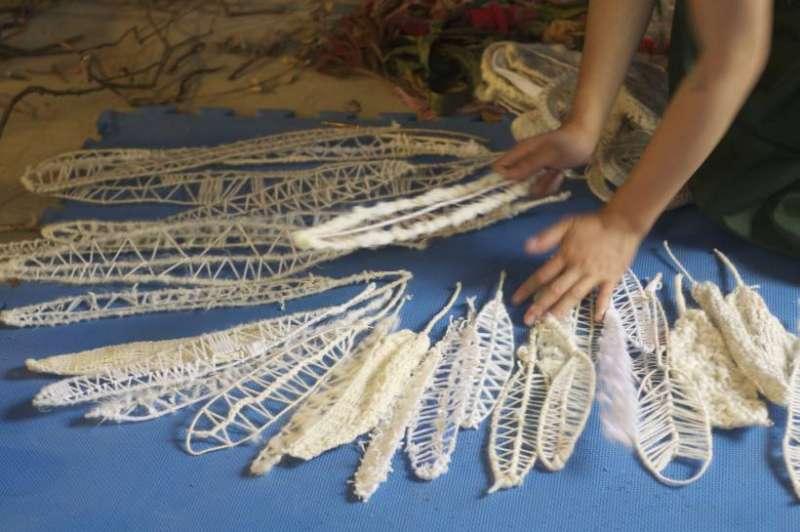 「白鷹族」創作過程紀錄。(圖/非池中藝術提供)