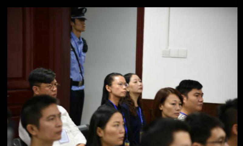 2017-09-11-中國對李明哲展開審判,李凈瑜旁聽。(李明哲救援大隊提供)