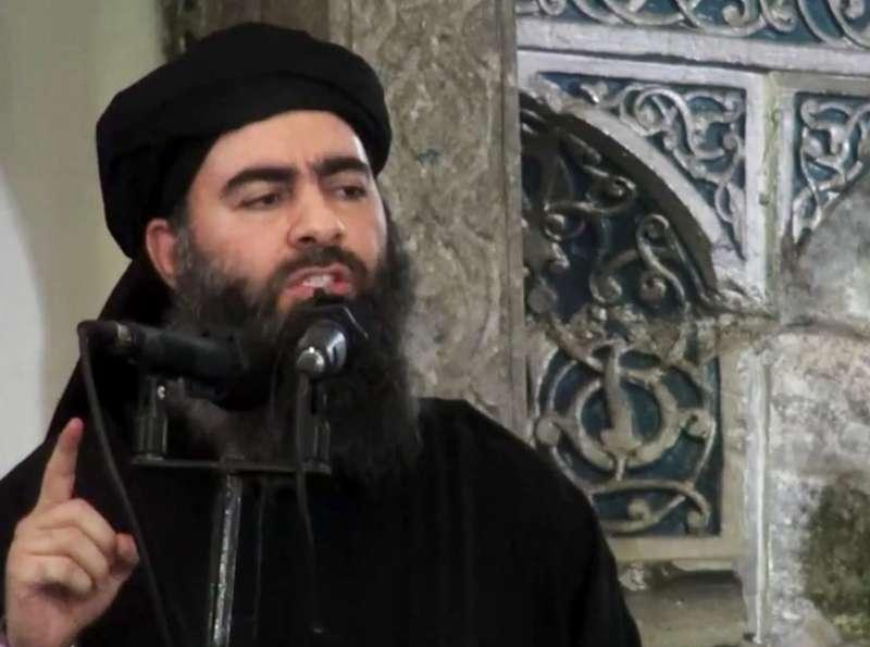 伊斯蘭國(IS)最高領導人巴格達迪(AP)