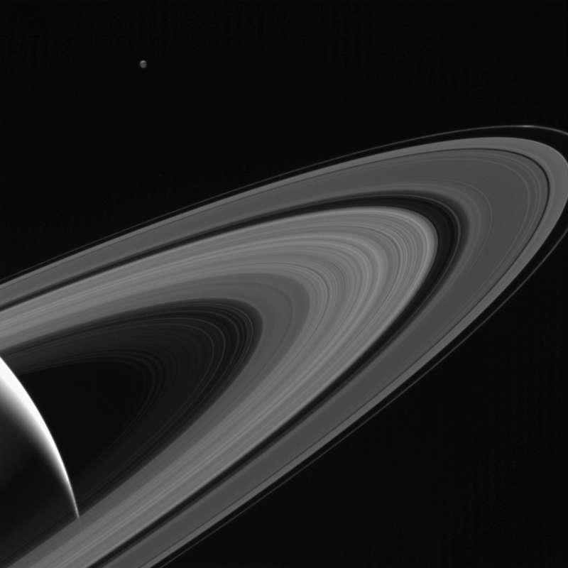 卡西尼號拍攝到的土星環照片。(NASA)