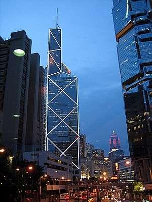 香港 中環花園道1號的中銀大廈(圖/城市美學新態度提供)