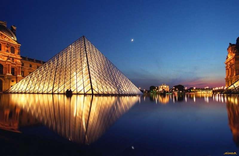 羅浮宮前金字塔。(圖/城市美學新態度提供)