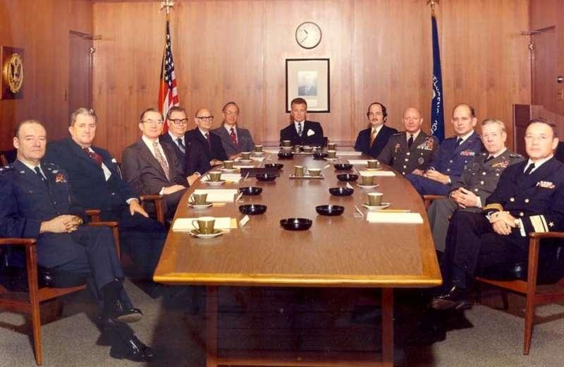 1973年中情局會議上,克萊恩與會(左四/維基百科)