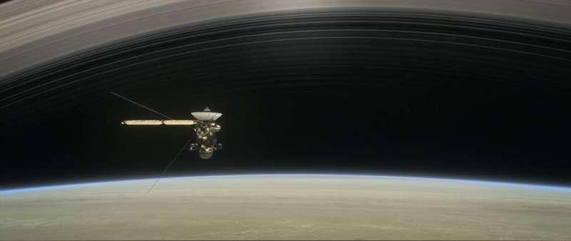 卡西尼號完成最後一次任務─衝向土星自毀,結束20年的太空漫遊。(NASA/JPL-Caltech)