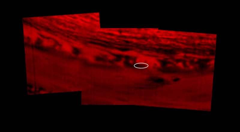 卡西尼號衝入土星大氣層傳回的最後資訊。(NASA/JPL-Caltech)