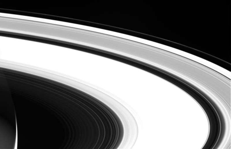 卡西尼號拍攝到的土星環照片。(NASA/JPL-Caltech)