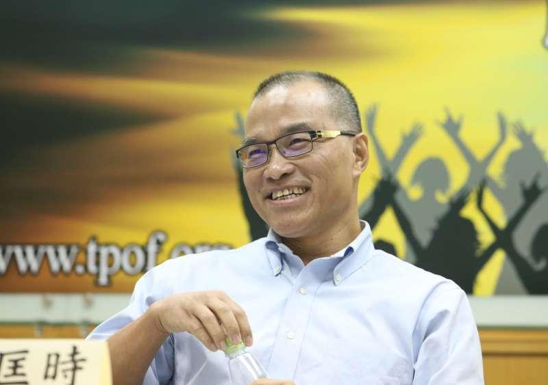 20170917-台灣民意基金會舉行「內閣改組、總統聲望與政黨支持」全國性民調發表會。葉匡時教授。(陳明仁攝)