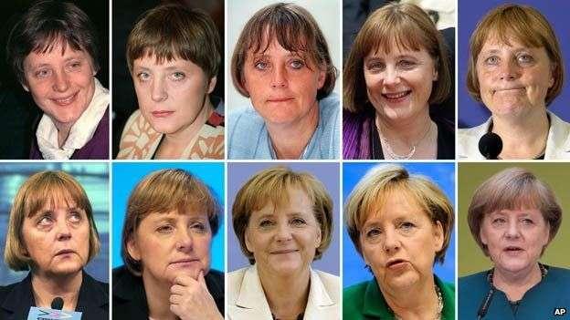 梅克爾從政近35年來,從不起眼的東德女孩變成可靠得人心的「德國媽媽」。(美聯社)