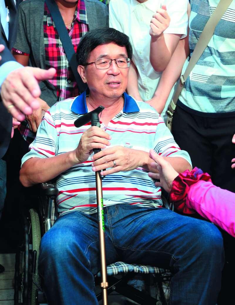 陳水扁曾涉及六案遭法院判刑定讞,目前身上還背著五大案。(林瑞慶攝)