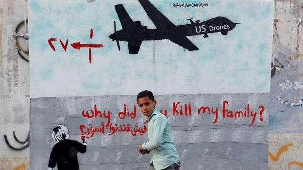 美軍在中東北非地區部署無人機打擊所謂的高價值目標(葉門)。(BBC中文網)