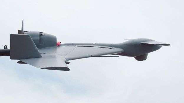 """以色列""""哈洛普(Harop)無人機被亞塞拜然用在爭議地區納戈爾諾-卡拉巴赫空襲。據說是首次在戰鬥中使用自殺無人機。(BBC中文網)"""
