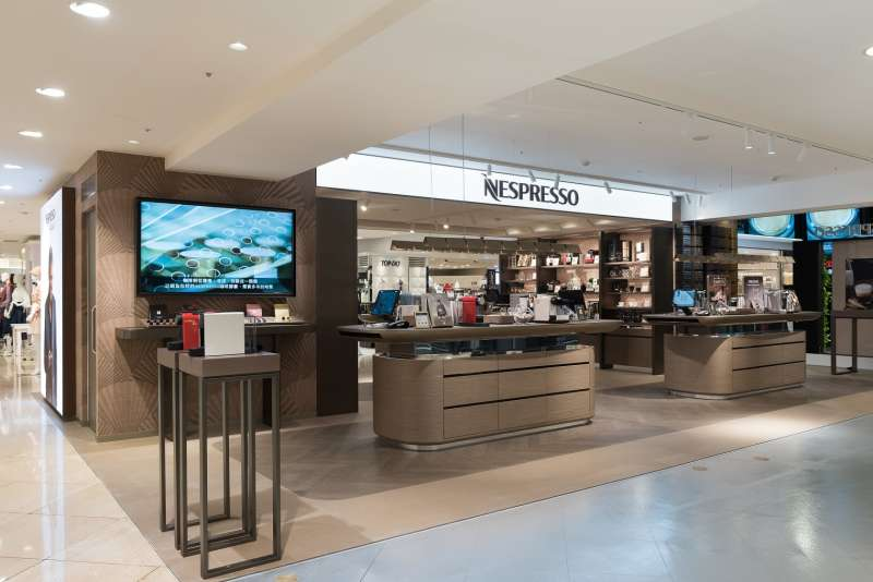 Nespresso新概念精品店以簡約舒適的風格和色調提供不間斷的咖啡體驗。(圖/Nespresso提供)