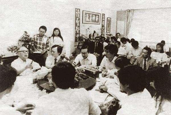 錢穆在台灣最後一次講課。(新亞師友供圖/香港文化產業總會)
