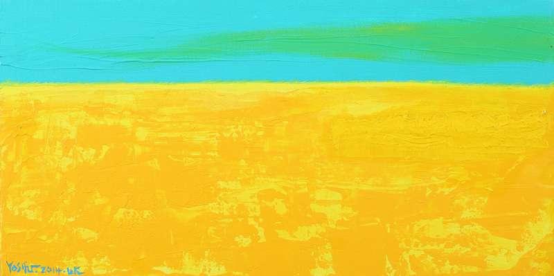 優席夫描繪平原稻穗的作品《豐收-2》。(圖/城市美學新態度提供)