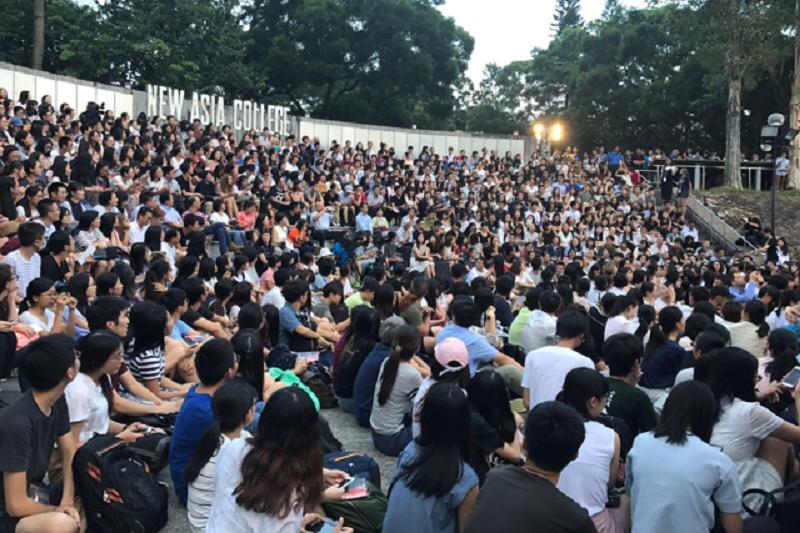 龍應台在香港新亞書院演講。(作者提供)