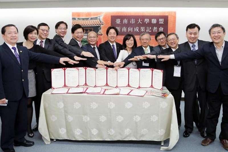響應新南向政策,整合台南市大學資源成立大學聯盟,參訪越南、馬來西亞及印尼成果豐碩。(台南市政府)