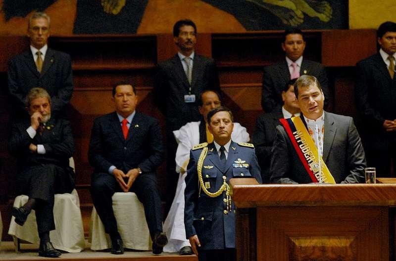 柯瑞亞2006當選厄瓜多爾總統。(Wilson Dias/ABr - Agência Brasi/維基百科)