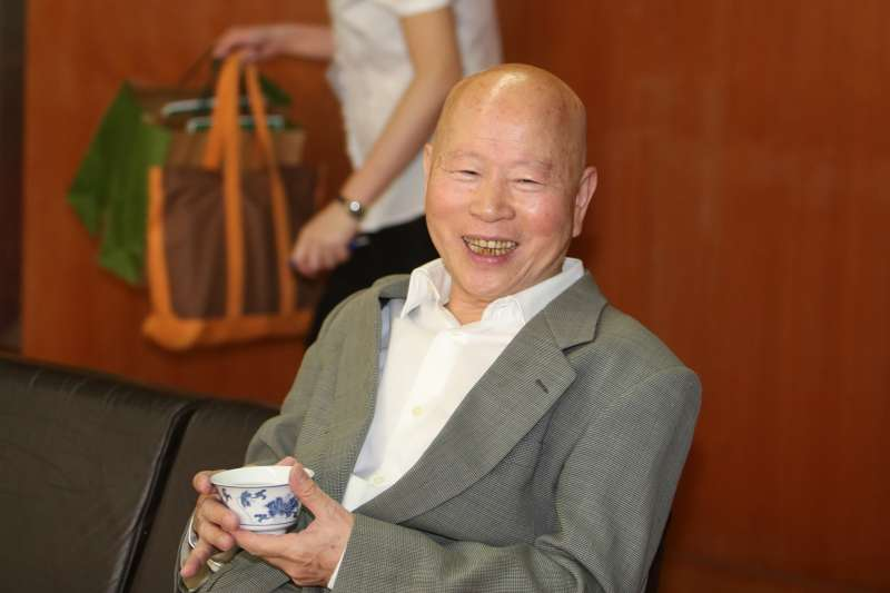 許信良(前民進黨黨主席)出席「總統直選與民主台灣」學術研討會。(陳明仁攝)
