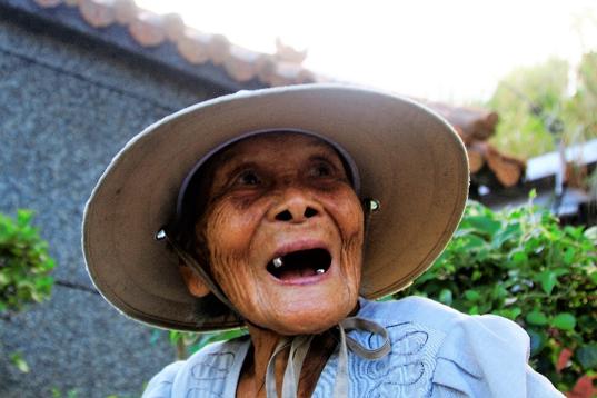 蘇澳港邊里阿合阿嬤,2017年93歲。(圖/李公元提供|想想論壇提供)