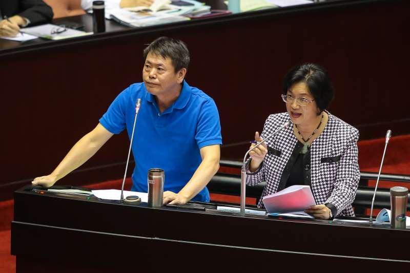 20170926-國民黨立委林為洲、王惠美26日於立院質詢。(顏麟宇攝)