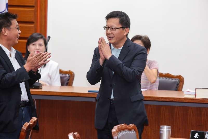20170927-民進黨立委張廖萬堅27日當選教育委員會召委。(顏麟宇攝)