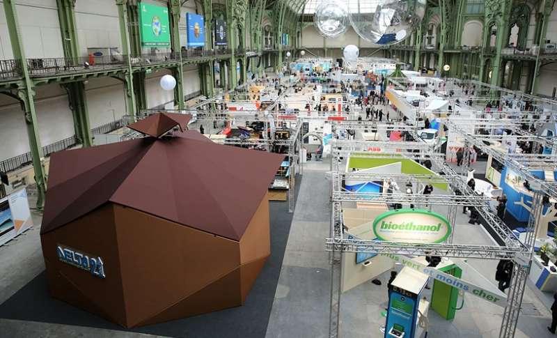 「綠築跡-台達綠建築展」在COP21聯合國氣候變遷大會期間於巴黎大皇宮登場,讓全球看見台灣,之後更移展北京及台北, 10月即將在高雄展出(圖/台達提供)
