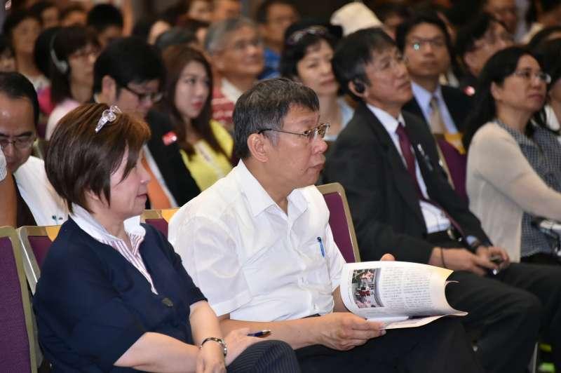 20170928台北市長柯文哲出席「2017臺日交流幸福熟齡論壇」。2(取自台北市政府)