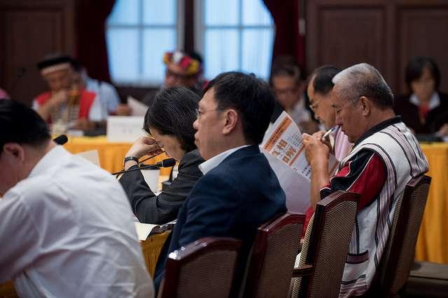 蔡英文總統今(29)日下午主持「總統府原住民族歷史正義與轉型正義委員會」第3次委員會議,姚人多參與。(總統府提供)