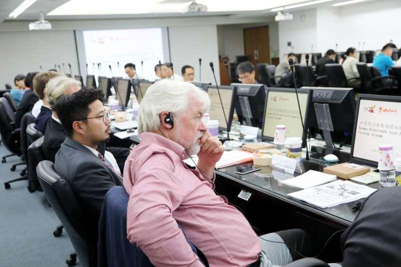 台荷共同推動循環經濟座談會28日舉辦,台南市長李孟諺盼經由這次交流,獲得荷蘭更多在循環經濟方面的新思維。(圖/台南市府新聞及國際關係處提供)
