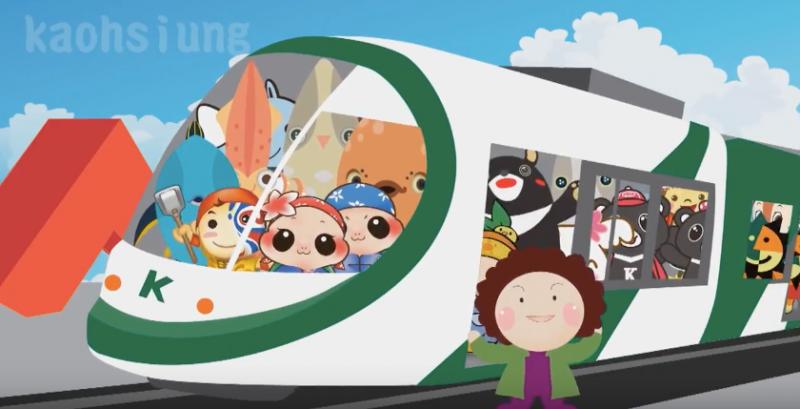 吉祥物化身綠色大使,讓民眾在趣味競賽裡裡認識低碳運具!。(圖/高雄市政府新聞局)