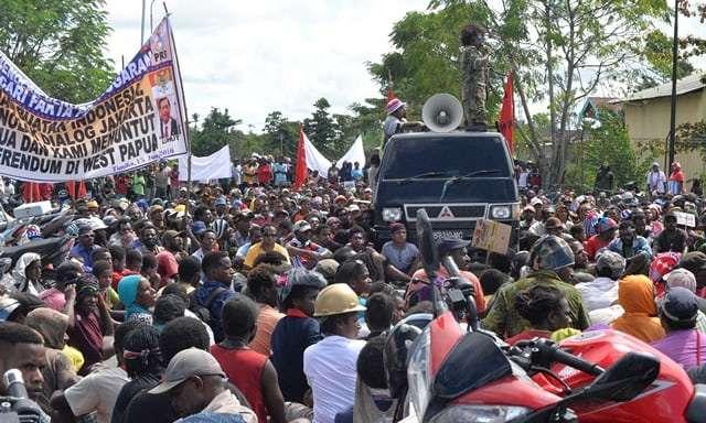 西巴布亞的挺獨派宣傳(取自 freewestpapua.org)