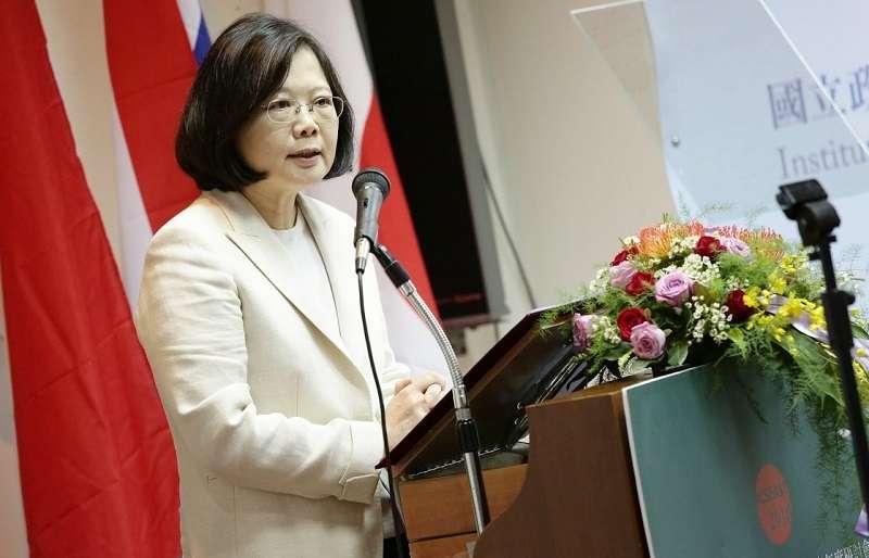 蔡英文總統出席2016年台灣的東南亞區域研究研討會。(總統府視頻截圖)
