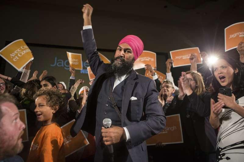 加拿大左派新民主黨(NDP)10月1日選出新領導人辛格(Jagmeet Singh),是一位錫克教(Sikh)教徒(AP)