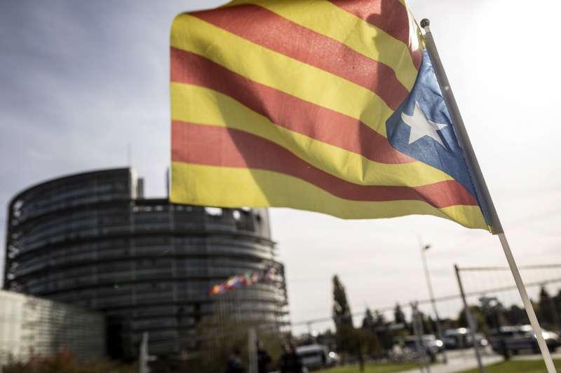 加泰隆尼亞與西班牙的情勢越來越緊繃。(美聯社)