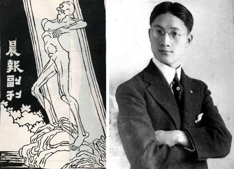 徐志摩(維基)和他主編的《晨報》副刊。