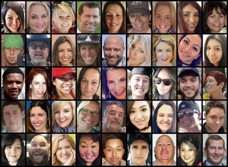 2017年10月1日美國賭城拉斯維加斯槍擊案的受害者(AP)