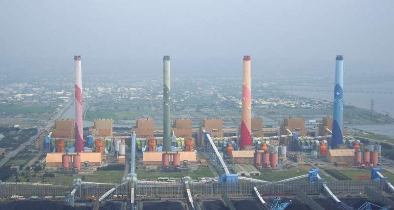 台中火力發電廠。(台電提供)