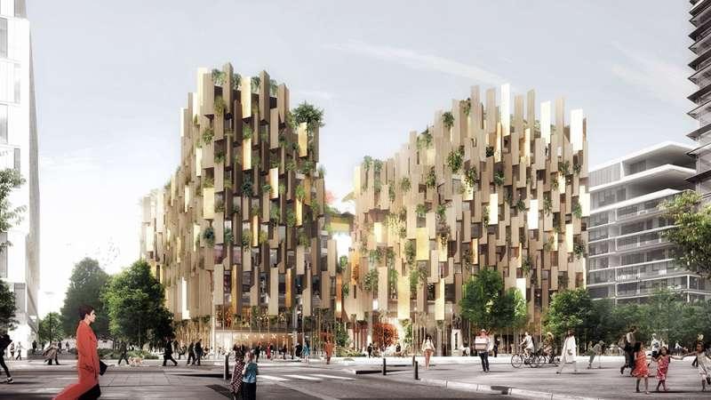 隈研吾將在法國建造生態豪華飯店「巴黎1號飯店」。(圖/取自Dezeen,瘋設計提供)
