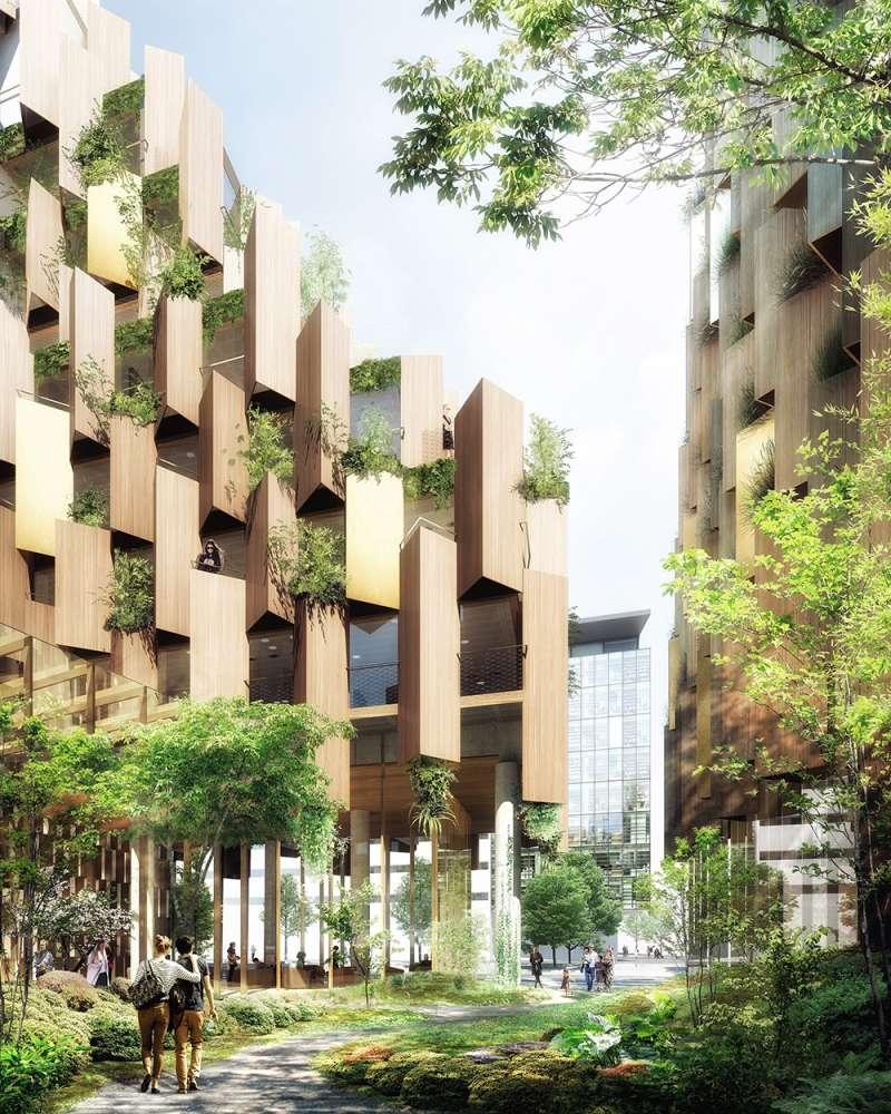 隈研吾將透過「巴黎1號飯店」為城市創造「綠色的肺」。(圖/取自Dezeen,瘋設計提供)