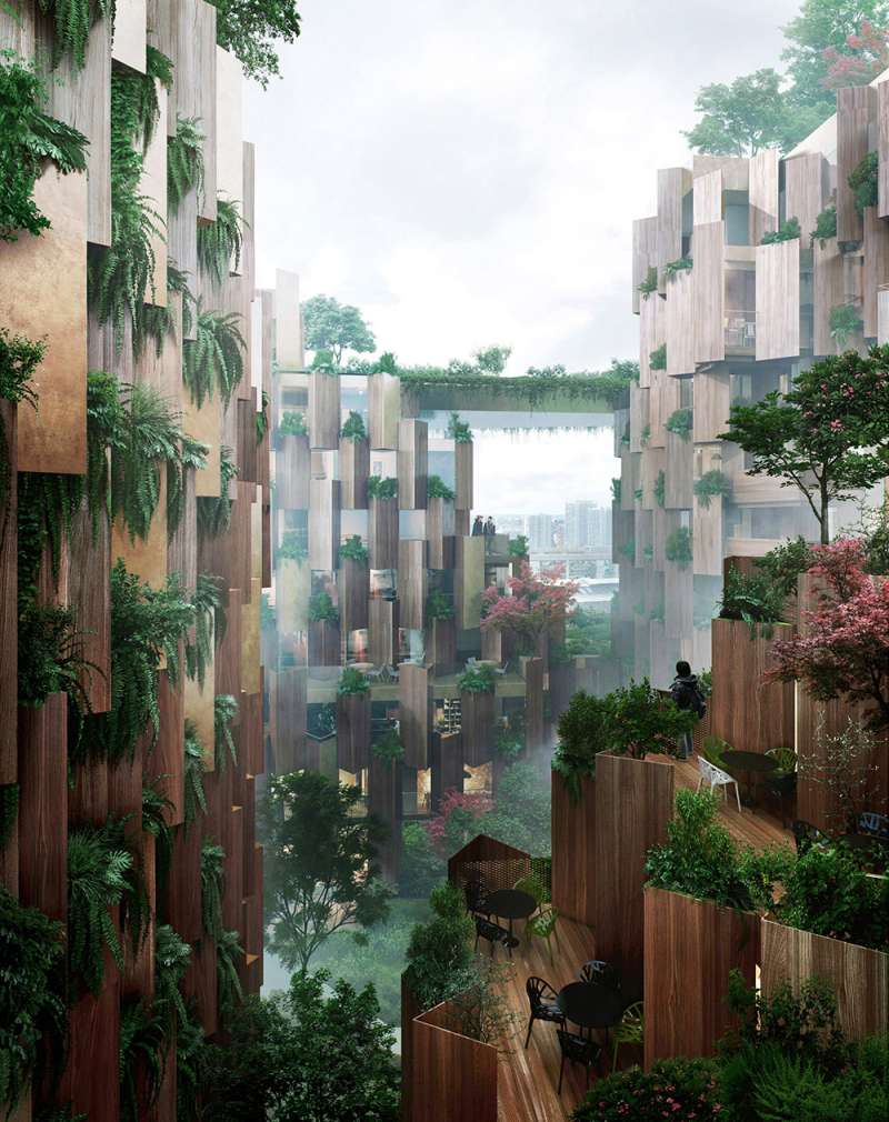 「巴黎1號飯店」錯落有致的陽台設計。(圖/取自Dezeen,瘋設計提供)