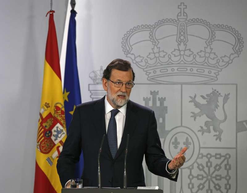 西班牙總理拉霍伊表示拒絕與加泰隆尼亞自治區政府展開對話(AP)