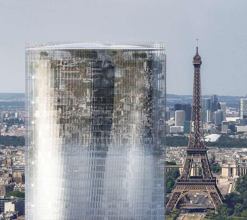 MAD Architects 企圖讓蒙帕納斯大樓成為城市的鏡子。(圖/取自Designboom,瘋設計提供。)