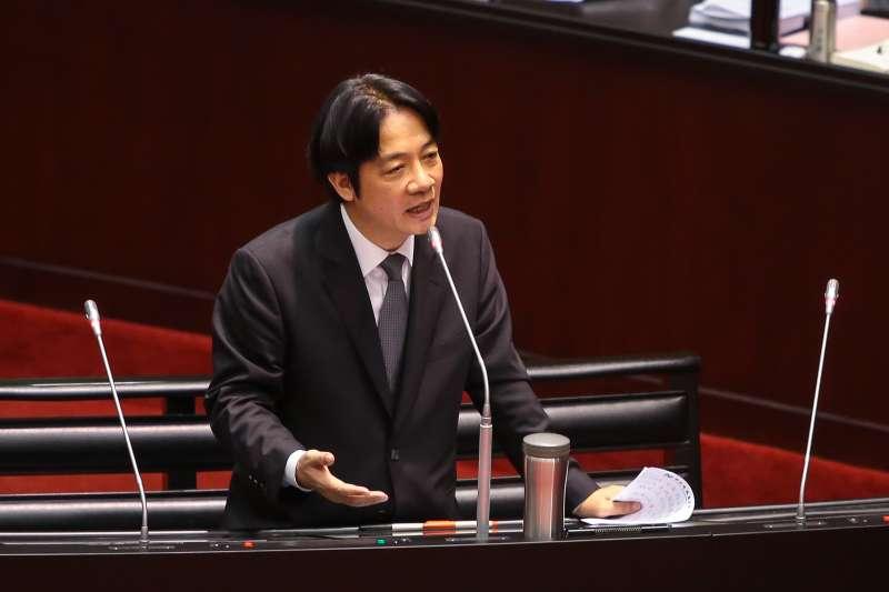 20171013-行政院長賴清德13日至立院備詢。(顏麟宇攝)