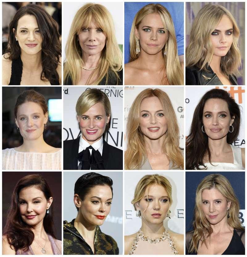 多名女星指控溫斯坦性騷擾或性侵。(美聯社)