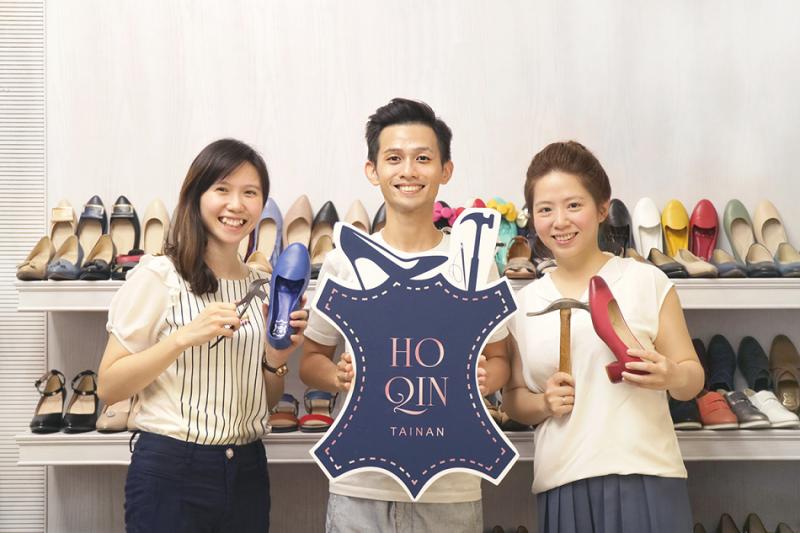 圖一、HoQin 好穿 三姐弟:大姐 Sarah(右)、二姐Debbie(左)、小弟 Phil(中)(圖/張瑋容提供)