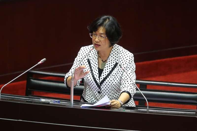 20171017-國民黨立委王惠美17日於立院質詢。(顏麟宇攝)