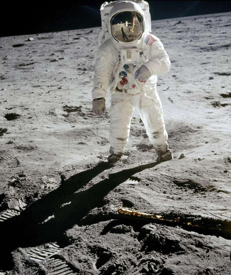 人類史上第2月登陸月球的太空人艾德林(Buzz Aldrin)(AP)